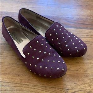 Steve Madden purple suede loafers 7
